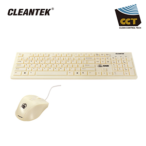 ESD White Keyboard/ Mouse Set